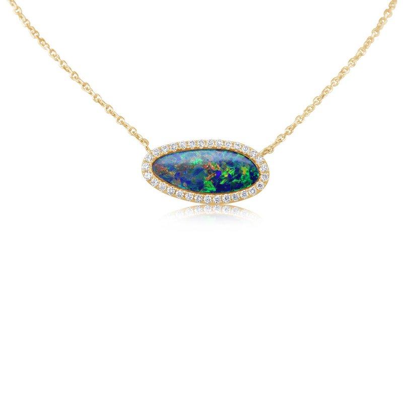 Lasker Gemstone Australian Opal Doublet Pendant