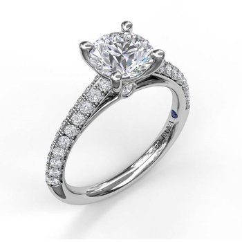 Pave' Cathedral Style Ring Mounting