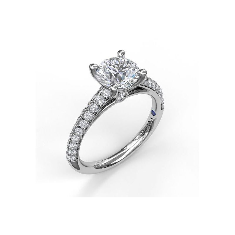 Fana Pave' Cathedral Style Ring Mounting