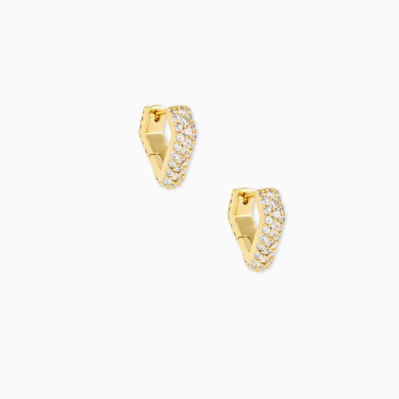 Kendra Scott Demi Huggie Earrings In Yellow
