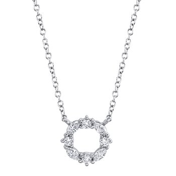 Diamond Cutout Circle Necklace
