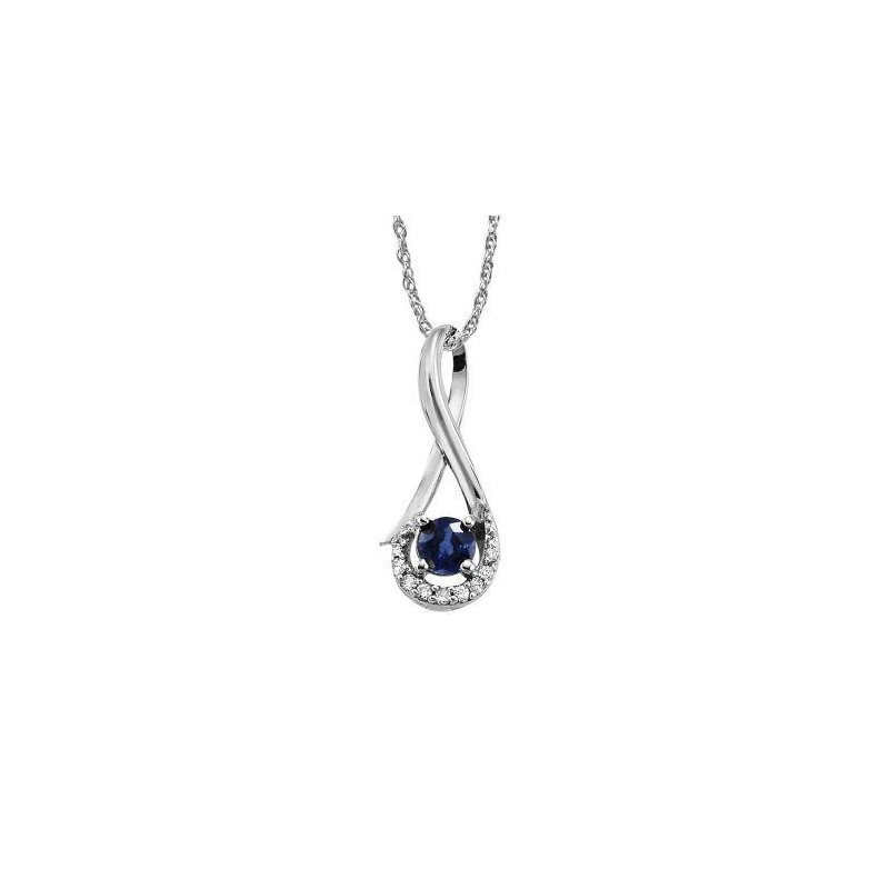 Lasker Gemstone Blue Sapphire Pendant