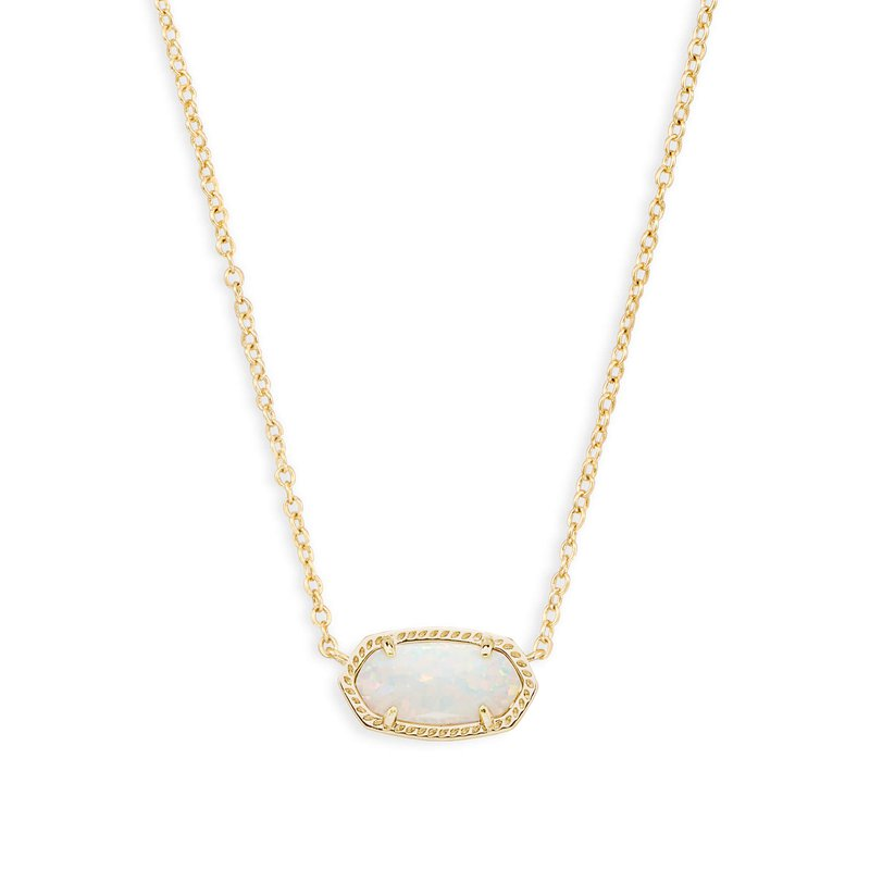 Kendra Scott Elisa Gold Pendant Necklace In White Mother-of-Pearl