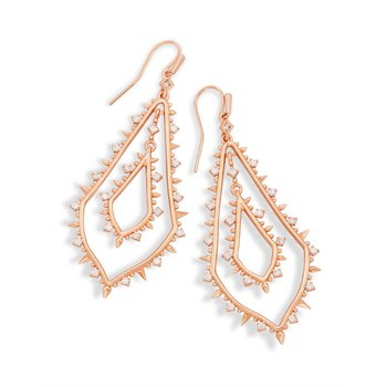 Alice Drop Earrings In Rose Gold