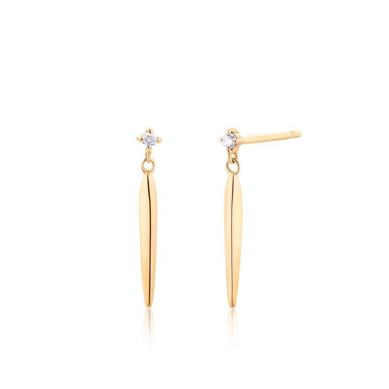 Aurelie Gi Josephine Dagger Diamond Earrings