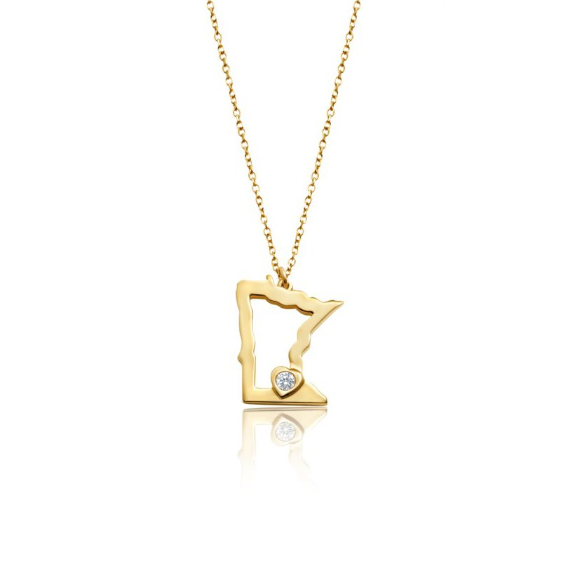 Lasker Gold Fashion Heart of Minnesota Pendant