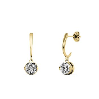 One and Only Dangle Diamond Earrings