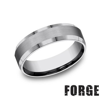 6MM BEVELED EDGE TUNGSTEN BAND