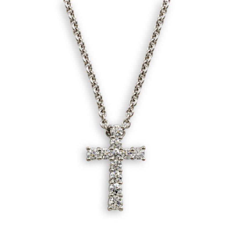Suna Classic Diamond Cross Pendant