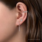 Gabriel Fashion Walk the Line Diamond Drop Earrings