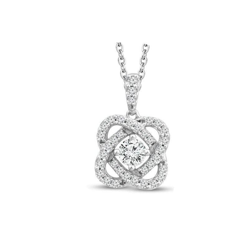 Lasker Diamond Fashion Only You Diamond Pendant - 3/4cttw