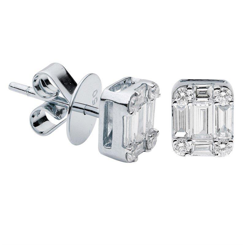 Lasker Diamond Fashion Mosaic Stud Earrings