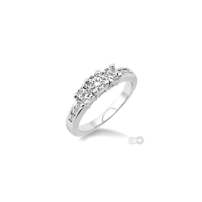 Lasker Bridal .50ct Total Diamond Weight 3-Stone Ring