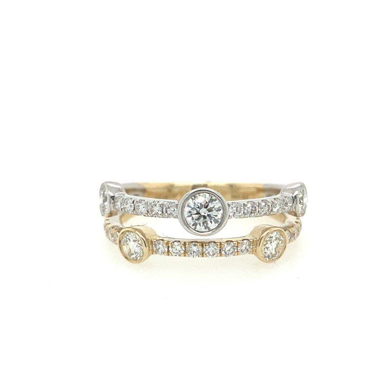 Lasker Diamond Fashion Bubble Fashion Ring
