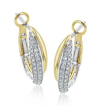 Fancy Diamond Hoop Earrings