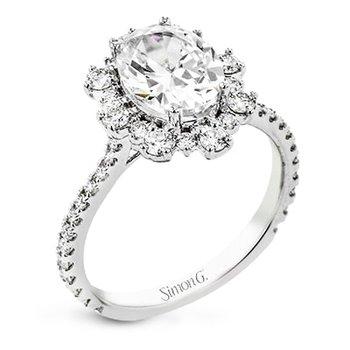 Supernova Halo Engagement Ring