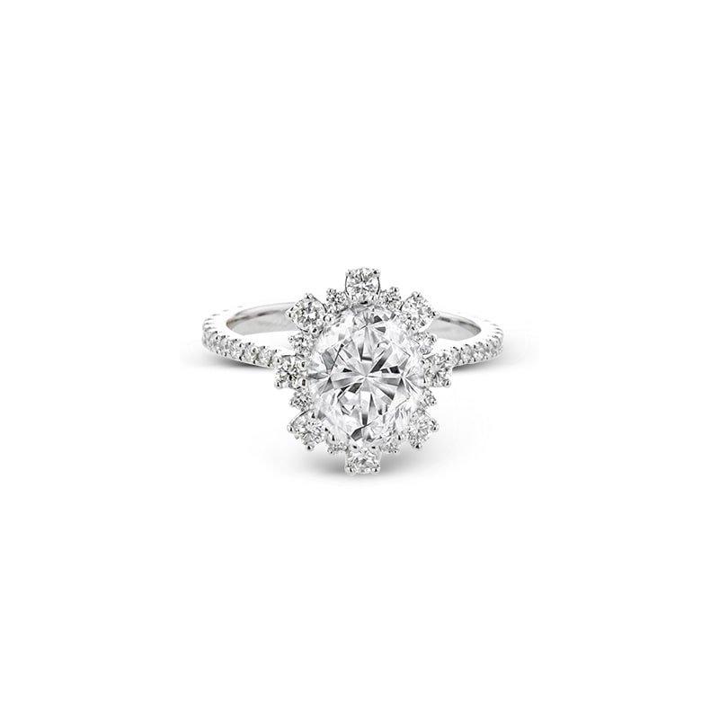 Simon G Supernova Halo Engagement Ring