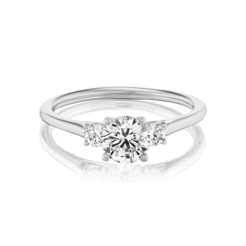 Lasker Bridal Classic Petite Diamond 3-Stone Ring