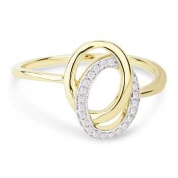 DOUBLE OVAL LINKED DIAMOND RING