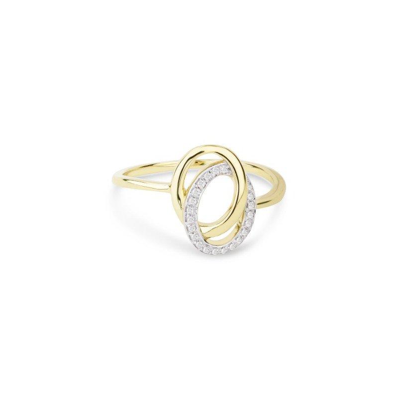Lasker Diamond Fashion DOUBLE OVAL LINKED DIAMOND RING