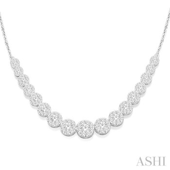 Lovebright Diamond Necklace - 3.05cttw
