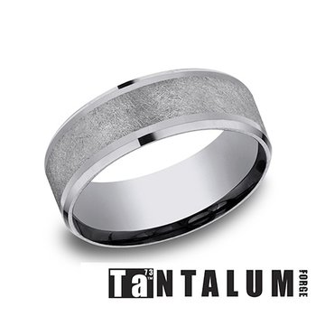 8mm Beveled Tantalum Band