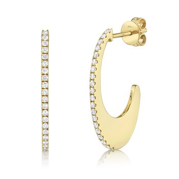 Yellow Gold and Diamond Hoop