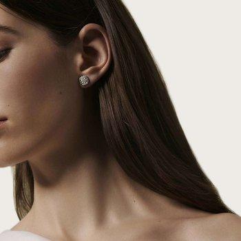Classic Chain Stud Earrings with Diamonds