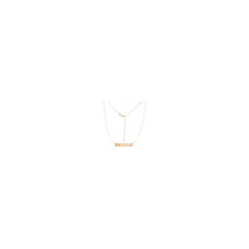 Lasker Gold Fashion 14kt Bar Necklace