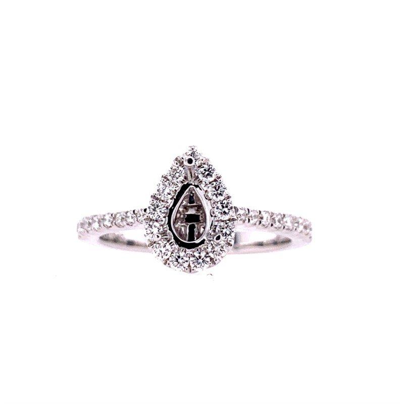 Lasker Bridal Teardrop Halo Mounting with Secret Diamond
