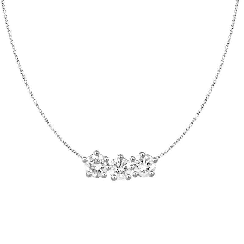 Lasker Diamond Fashion Three Stone Diamond Pendant
