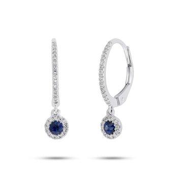 Center Of My World Sapphire Dangle Earrings
