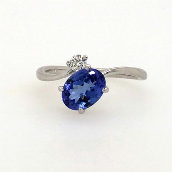 Tanzanite & Diamond Bypass Fashion Ring