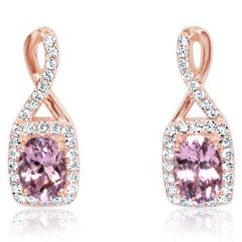 Lotus Garnet Twist Earrings