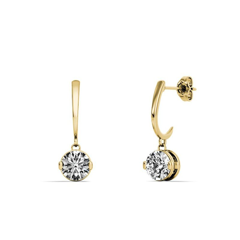 Lasker Diamond Fashion One and Only Dangle Earrings - .20cttw