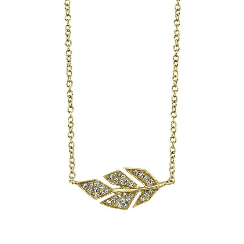 Lasker Diamond Fashion Leaf Pendant