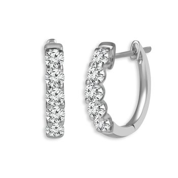 Classic Diamond Hoop Earrings - 2cttw