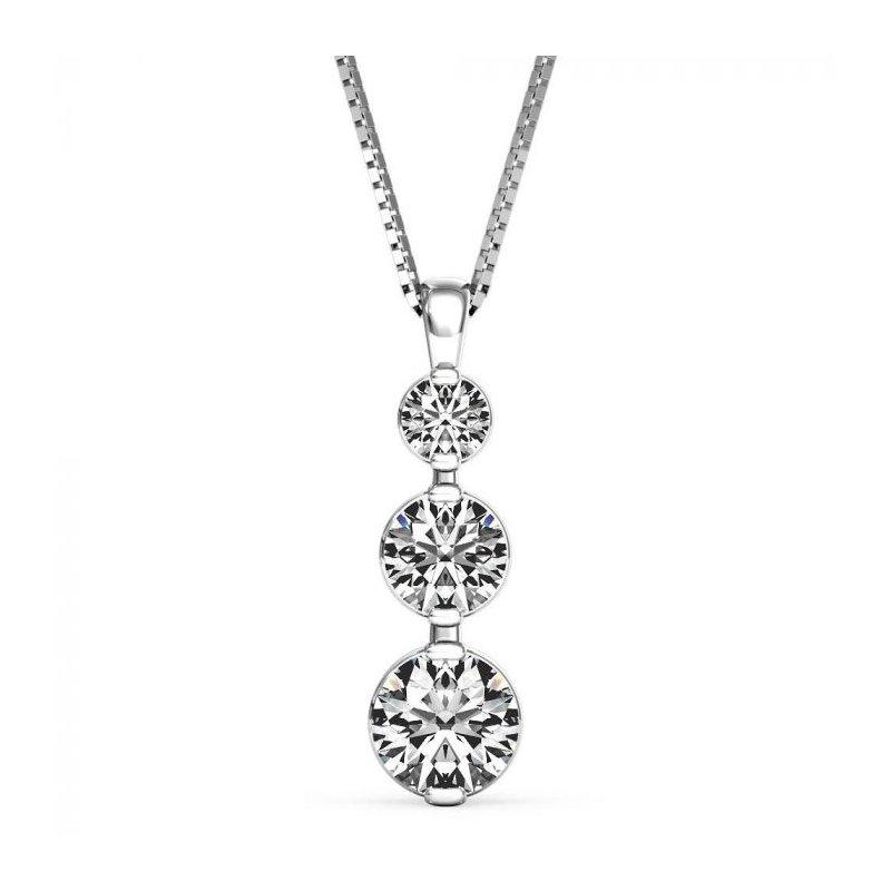 Lasker Diamond Fashion Past, Present & Future Pendant - 1/4CTTW
