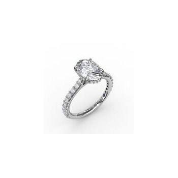 Oval Hidden Halo Ring Mounting