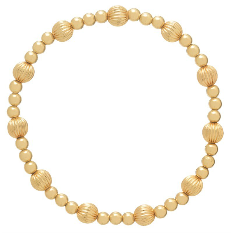 enewton Gold Filled Dignity Sincerity Pattern 4mm Bead Bracelet