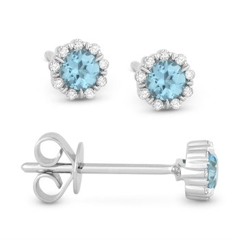 Center Of My World Blue Topaz Earrings
