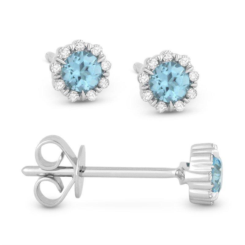 Lasker Gemstone Center Of My World Blue Topaz Earrings