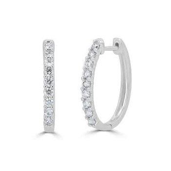 Diamond Hoops - .50ctw