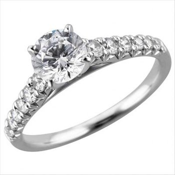 A Timeless Classic - .90ct Center Diamond