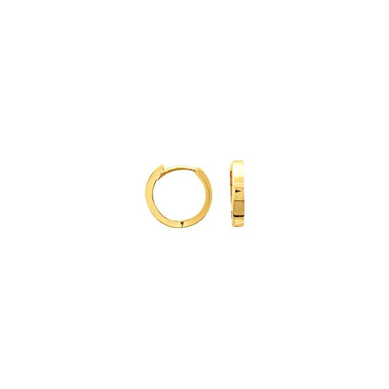 Lasker Gold Fashion Petite 11mm Hoop Earrings