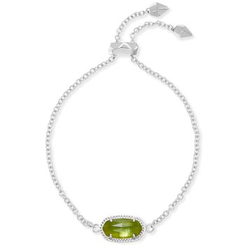 Elaina Adjustable Chain Bracelet With Peridot Illusion