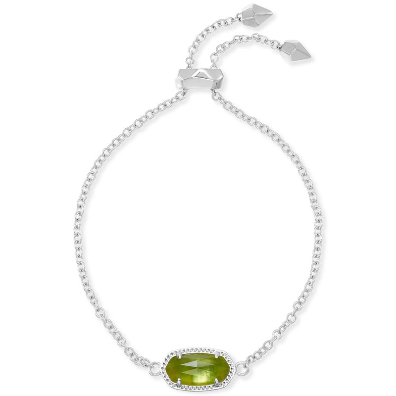 Kendra Scott Elaina Adjustable Chain Bracelet With Peridot Illusion