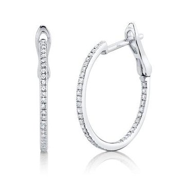 20mm Diamond Hoop Earrings