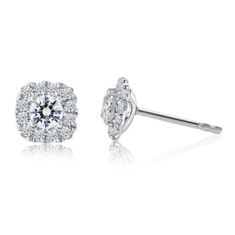 Fire & Ice Diamonds Fire & Ice Cassiopeia Stud Earrings - 1cttw
