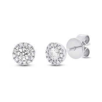 Halo Stud Earrings - .29cttw